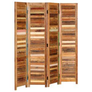 Biombo de divisão em madeira recuperada maciça 170 cm - PORTES GRÁTIS
