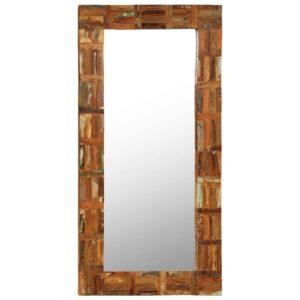 Espelho de parede em madeira recuperada maciça 60x120 cm - PORTES GRÁTIS