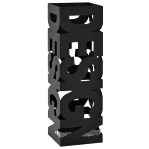 Suporte para guarda-chuvas design em aço preto  - PORTES GRÁTIS