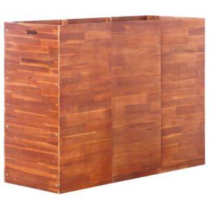 Vaso/floreira de madeira de acácia 150x50x100 cm - PORTES GRÁTIS