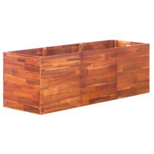 Vaso/floreira de madeira de acácia 150x50x50 cm - PORTES GRÁTIS
