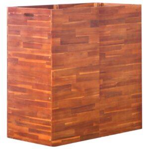 Vaso/floreira de madeira de acácia 100x50x100 cm - PORTES GRÁTIS