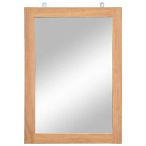 Espelho de parede em teca maciça 50x70 cm - PORTES GRÁTIS