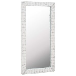 Espelho em vime branco 50x100 cm - PORTES GRÁTIS