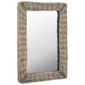 Espelho em vime castanho 40x60 cm - PORTES GRÁTIS