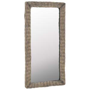 Espelho em vime castanho 50x100 cm - PORTES GRÁTIS