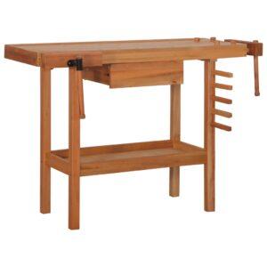 Bancada de carpintaria com gaveta 2 tornos madeira dura - PORTES GRÁTIS