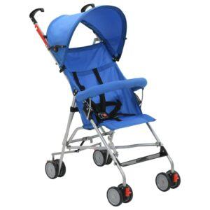 Carrinho de bebé dobrável azul aço - PORTES GRÁTIS