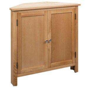 Armário de canto 80x33,5x78 cm madeira carvalho maciça - PORTES GRÁTIS