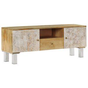 Móvel de TV em madeira de mangueira maciça 118x30x45 cm - PORTES GRÁTIS