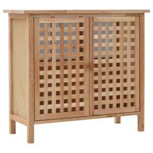 Armário para lavatório em madeira de nogueira maciça 66x29x61 cm - PORTES GRÁTIS