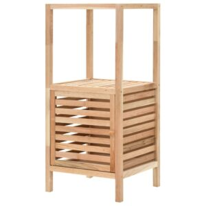 Armário de arrumação para WC nogueira maciça 39,5x35,5x86 cm - PORTES GRÁTIS