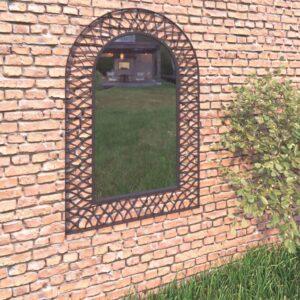 Espelho de parede arqueado para jardim 50x80 cm preto - PORTES GRÁTIS
