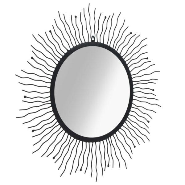 Espelho de parede para jardim raios de sol 80 cm preto - PORTES GRÁTIS