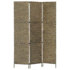 Divisória com 3 painéis 116x160 cm jacinto de água castanho - PORTES GRÁTIS