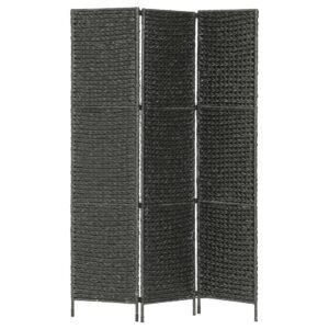 Divisória com 3 painéis 116x160 cm jacinto de água preto - PORTES GRÁTIS