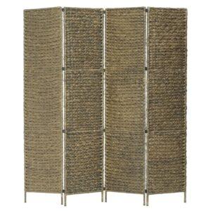 Divisória com 4 painéis 154x160 cm jacinto de água castanho - PORTES GRÁTIS