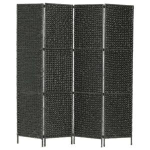 Divisória com 4 painéis 154x160 cm jacinto de água preto - PORTES GRÁTIS