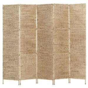 Divisória de quarto com 5 painéis 193x160 cm jacinto de água - PORTES GRÁTIS