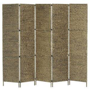 Divisória quarto c/ 5 painéis 193x160 cm jacinto água castanho - PORTES GRÁTIS