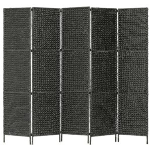 Divisória quarto c/ 5 painéis 193x160 cm jacinto de água preto - PORTES GRÁTIS