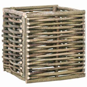 Vaso de jardim elevado 40x40x40 cm madeira de aveleira  - PORTES GRÁTIS