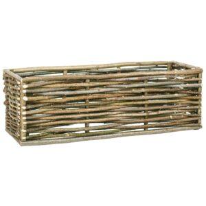Vaso de jardim elevado 120x40x40 cm madeira de aveleira  - PORTES GRÁTIS
