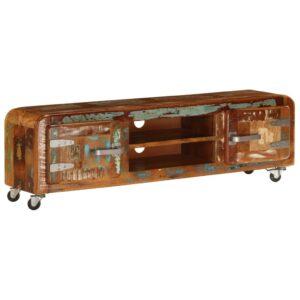 Móvel de TV 120x30x36 cm madeira recuperada maciça  - PORTES GRÁTIS
