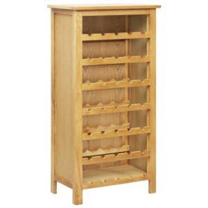 Garrafeira 56x32x110 cm madeira de carvalho maciça - PORTES GRÁTIS
