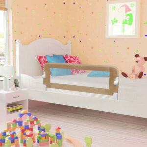 Barra segur. cama infantil 102x42cm poliéster cinza-acastanhado - PORTES GRÁTIS