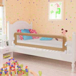 Barra segur. cama infantil 150x42cm poliéster cinza-acastanhado - PORTES GRÁTIS