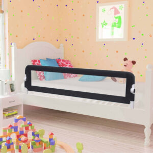 Barra de segurança p/ cama infantil 150x42cm poliéster cinzento - PORTES GRÁTIS