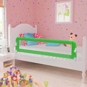 Barra de segurança p/ cama infantil 120x42cm poliéster verde - PORTES GRÁTIS