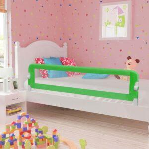 Barra de segurança p/ cama infantil 180x42cm poliéster verde - PORTES GRÁTIS