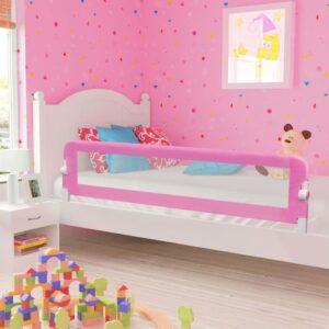 Barra de segurança p/ cama infantil 180x42cm poliéster rosa - PORTES GRÁTIS