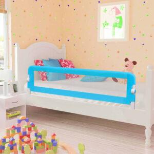 Barra de segurança p/ cama infantil 120x42cm poliéster azul - PORTES GRÁTIS
