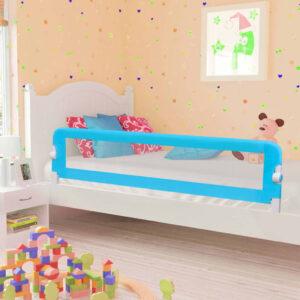 Barra de segurança p/ cama infantil 180x42cm poliéster azul - PORTES GRÁTIS