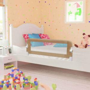 Barra segur. cama infantil 120x42cm poliéster cinza-acastanhado - PORTES GRÁTIS