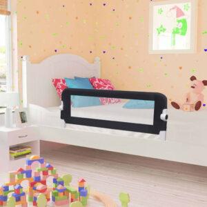 Barra de segurança p/ cama infantil 120x42cm poliéster cinzento - PORTES GRÁTIS