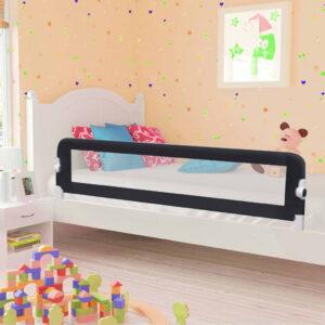 Barra de segurança p/ cama infantil 180x42cm poliéster cinzento - PORTES GRÁTIS