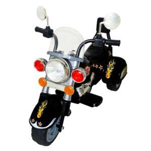 Moto de passeio alimentada a bateria preta - PORTES GRÁTIS