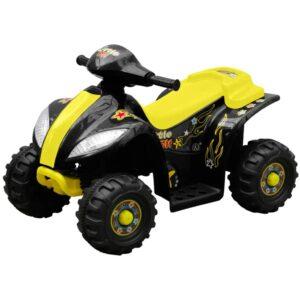 Quadriciclo Elétrico para Crianças Amarelo e Preto - PORTES GRÁTIS
