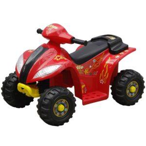 Quadriciclo Elétrico para Crianças Vermelho e Preto - PORTES GRÁTIS