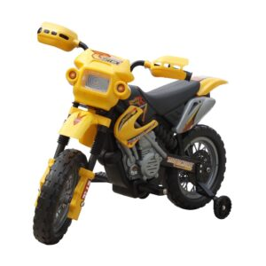 Moto elétrica infantil amarelha - PORTES GRÁTIS