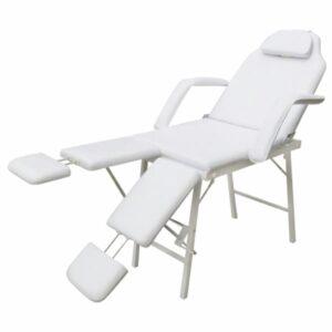 Cama facial com apoio de pernas ajustavel branca - PORTES GRÁTIS