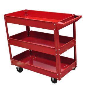 Carrinho para ferramentas de oficina - capacidade de carga (máximo): 100 kg- PORTES GRÁTIS