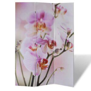 Biombo dobrável com estampa de flores 120x170 cm - PORTES GRÁTIS