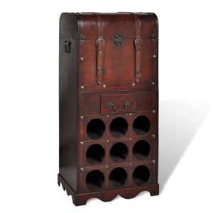 Garrafeira para 9 garrafas de vinho - PORTES GRÁTIS