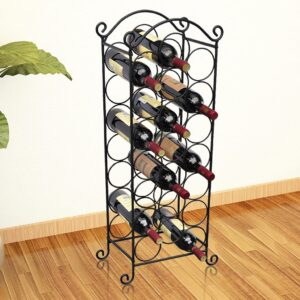 Prateleira metálica para 21 garrafas de vinho - PORTES GRÁTIS