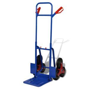 Carrinho de carga manual dobrável 6 rodas azul - PORTES GRÁTIS